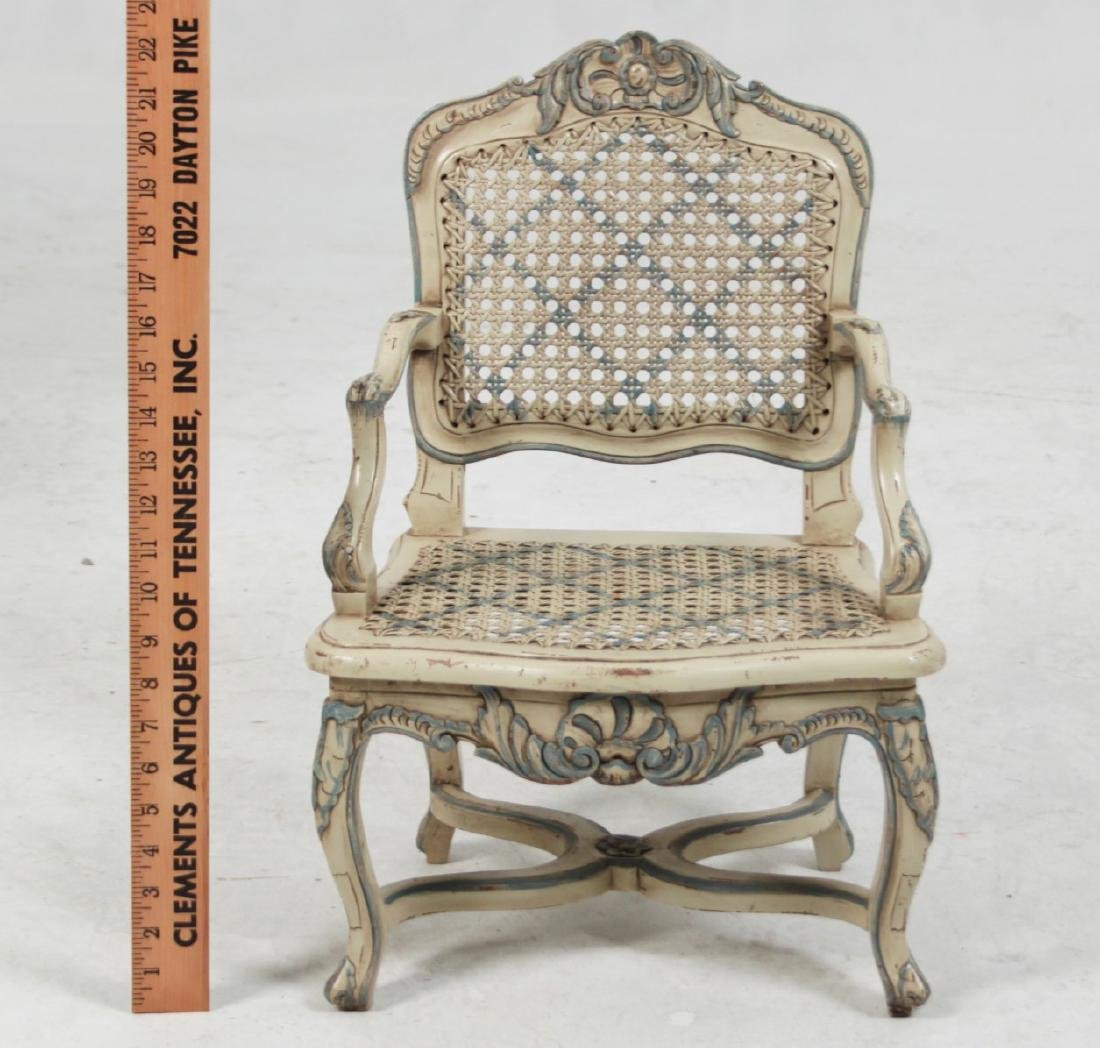 LOUIS XV STYLE PAINTED MINIATURE FAUTEUIL - 3