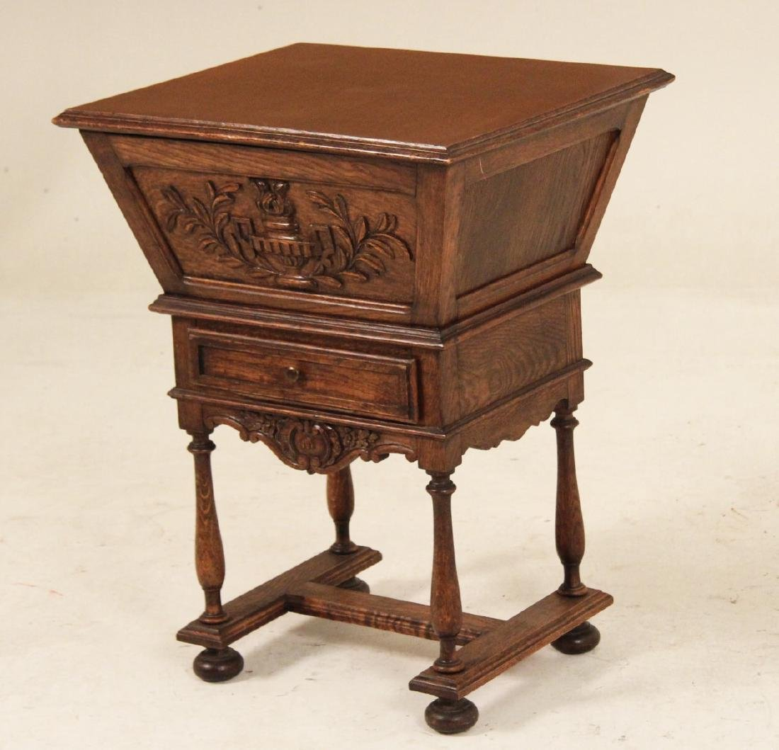 PROVINCIAL FRENCH OAK LIFT TOP WINE CABINET