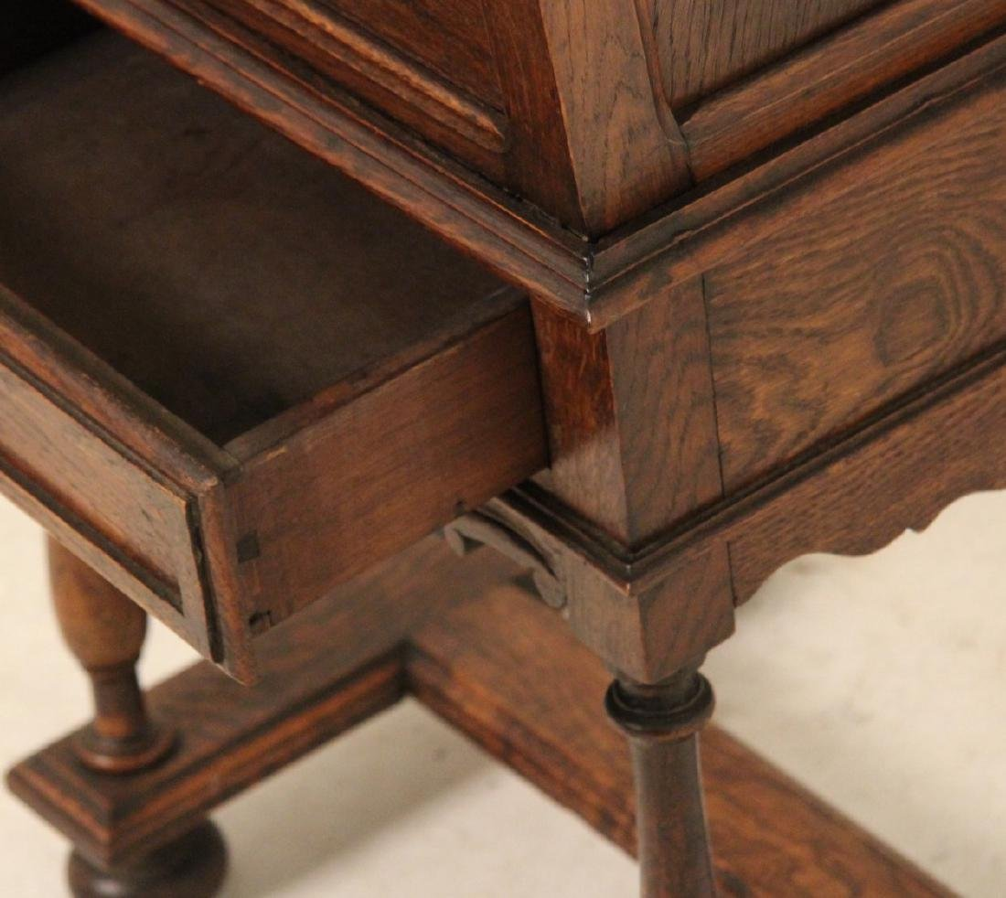 PROVINCIAL FRENCH OAK LIFT TOP WINE CABINET - 3