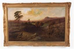 JOSEPH KITCHINGMAN, 19TH C. ENGLISH O/C LANDSCAPE