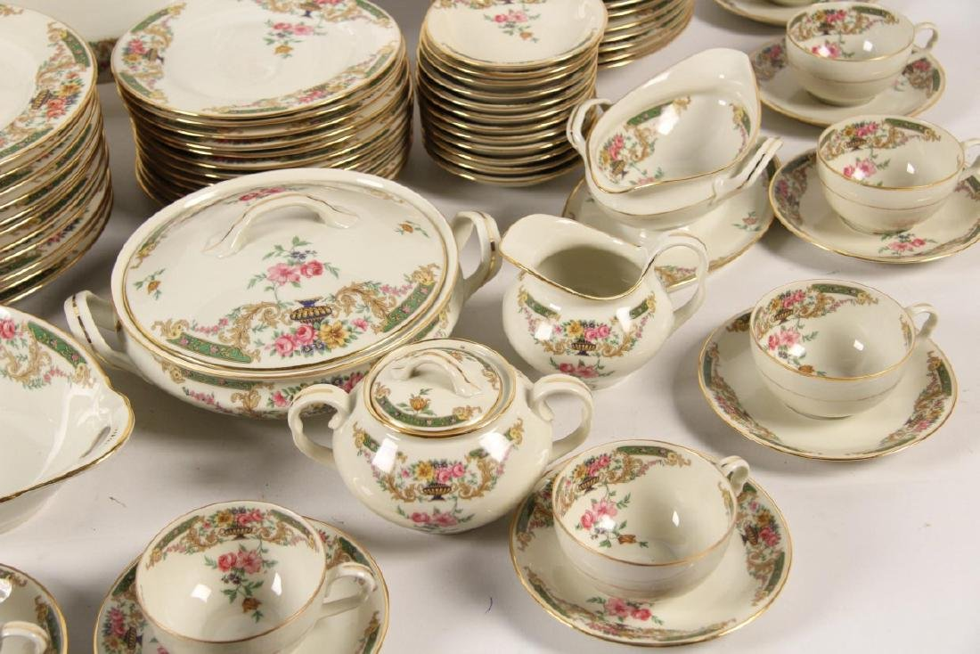 92 PIECE GOLD RIMMED CHINA DINNER SERVICE - 2