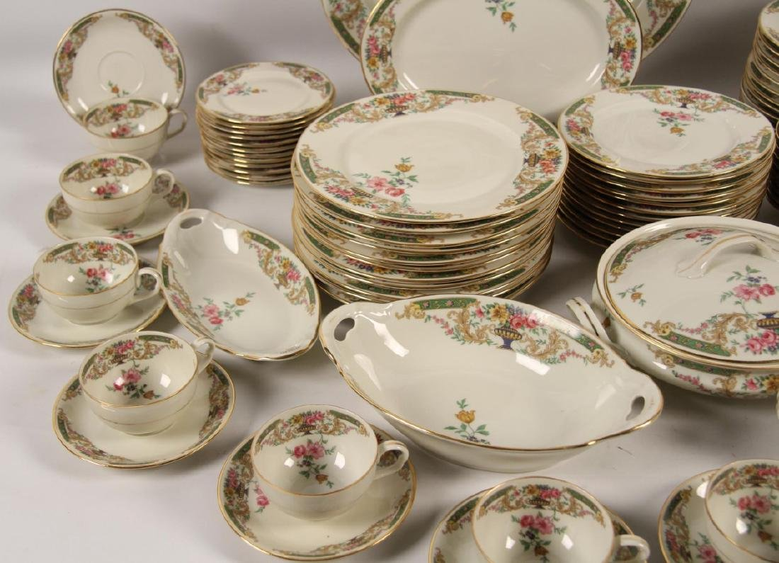 92 PIECE GOLD RIMMED CHINA DINNER SERVICE - 3