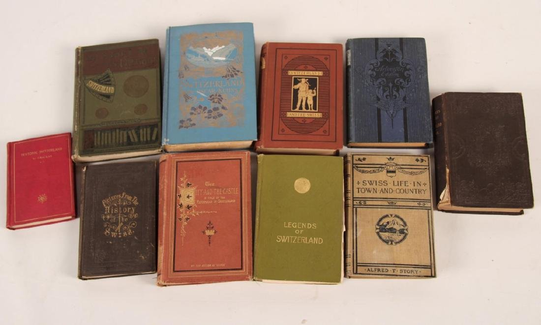 GROUP OF 10 PAPER BACK BOOKS RELATING TO SWITZERLAND