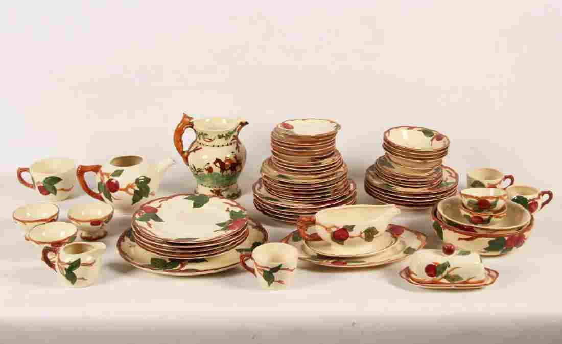68 PC. LOT OF FRANCISCAN WARE GLAZED CERAMIC DINNER