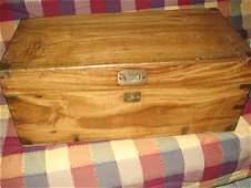 CAMPHOR WOOD BRASS BOUND WORK BOX