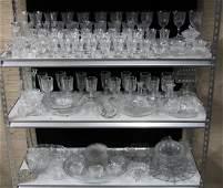 MISC LOT OF 150  PCS OF PRIMARILY FOSTERIA GLASSWARE