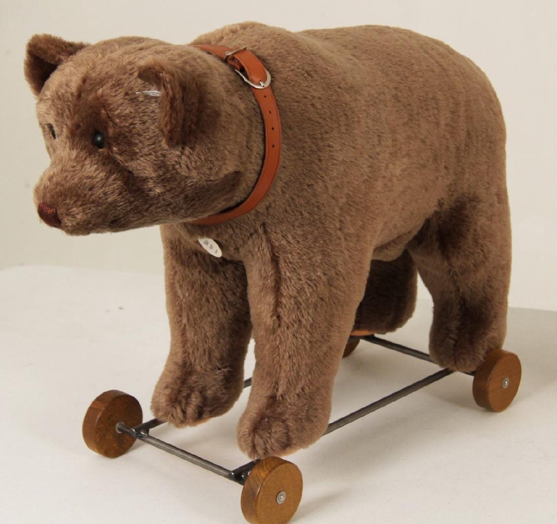 STEIFF 1921 TEDDY BEAR ON WHEELS