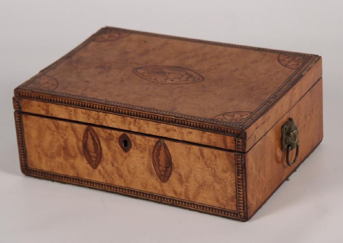 19TH C ENGLISH REGENCY SATINWOOD BOX