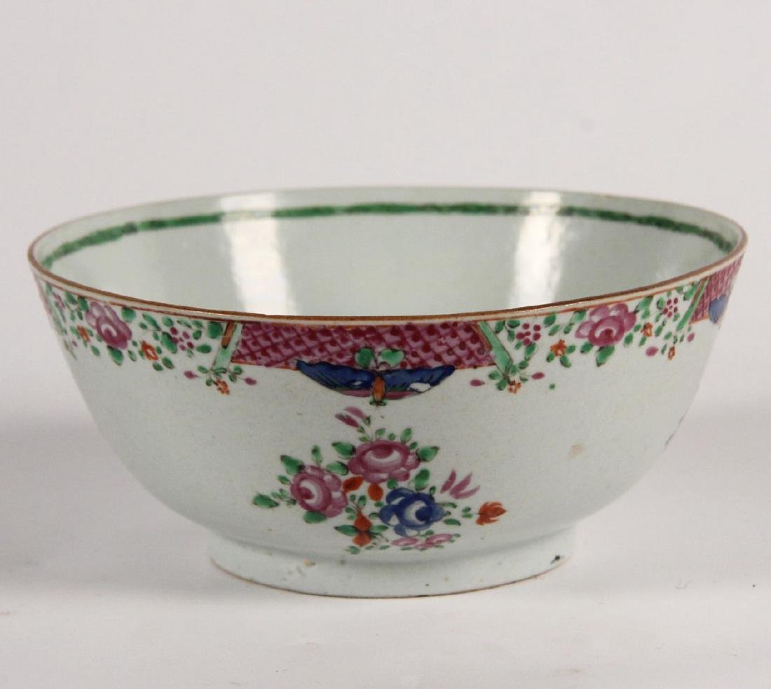 """18TH C. CHINESE EXPORT 8"""" FOOTED BOWL"""