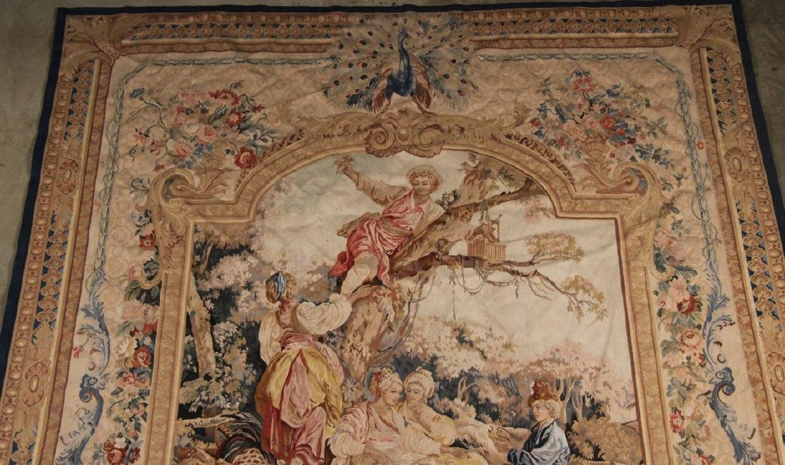 """FRENCH STYLE AUBUSSON TAPESTRY 7'2"""" X 8'11"""" - 2"""