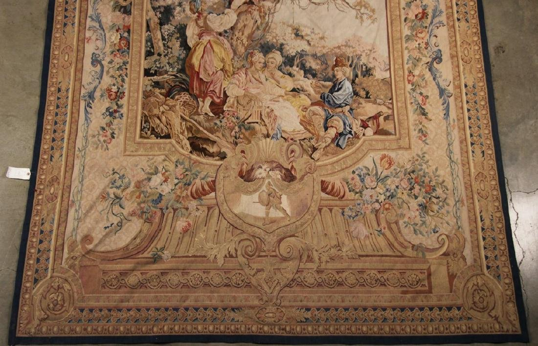 """FRENCH STYLE AUBUSSON TAPESTRY 7'2"""" X 8'11"""" - 3"""