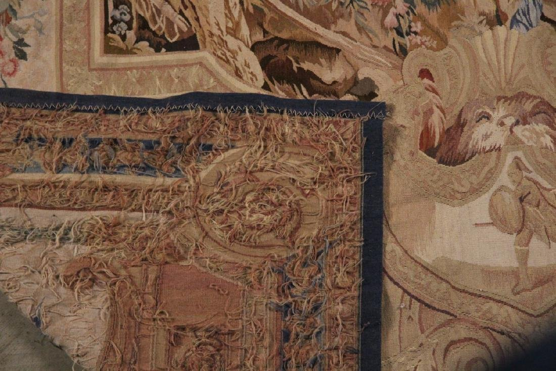 """FRENCH STYLE AUBUSSON TAPESTRY 7'2"""" X 8'11"""" - 4"""