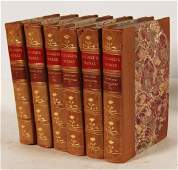 GROUP OF 6 LBOUND BOOKS PLUTARCHS WORKS