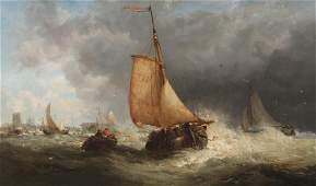JAMES WEBB (1825-1895); OIL ON CANVAS PAINTING