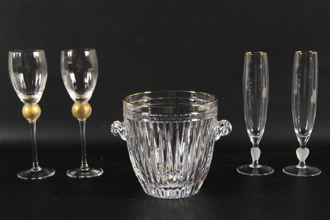5 PC. MISC.LOT OF SIGNED WATERFORD CRYSTAL