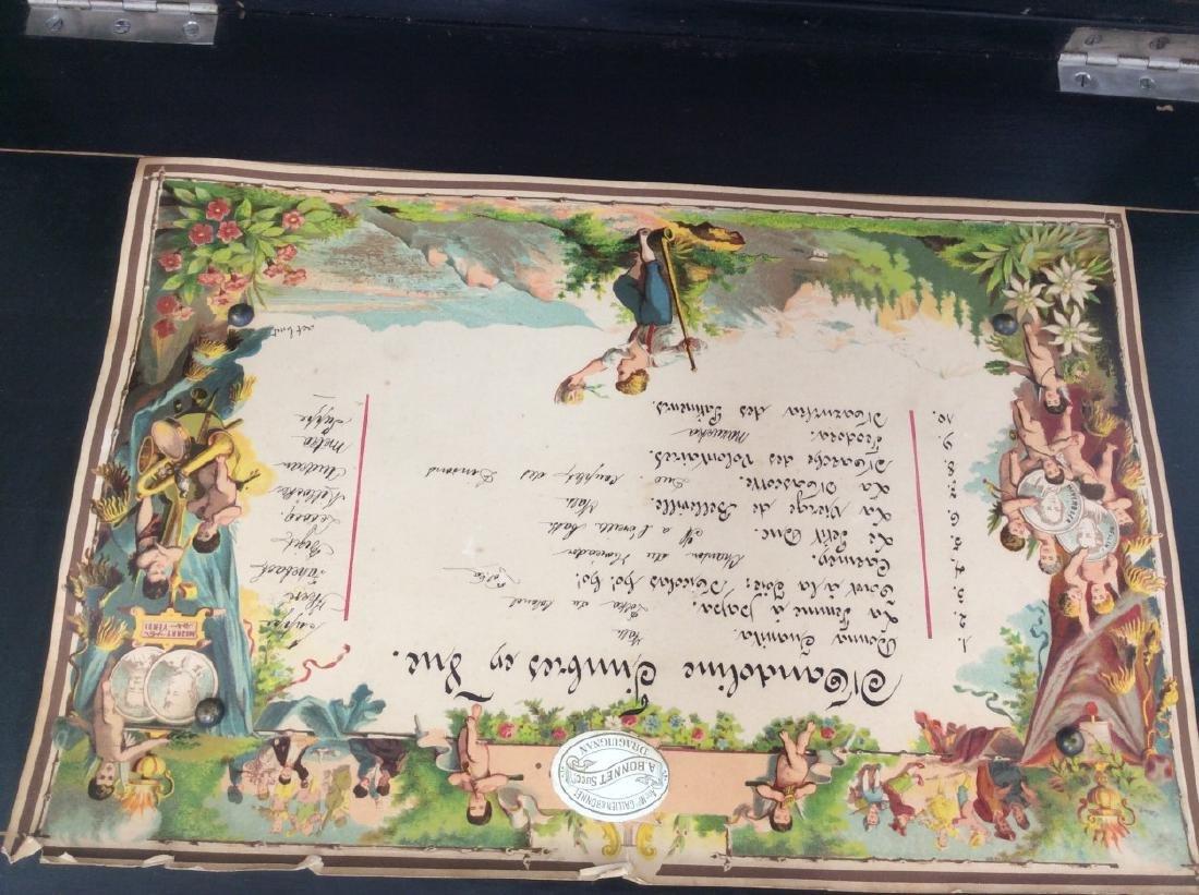 SWISS MARQUETRY INLAID MUSIC BOX - 3