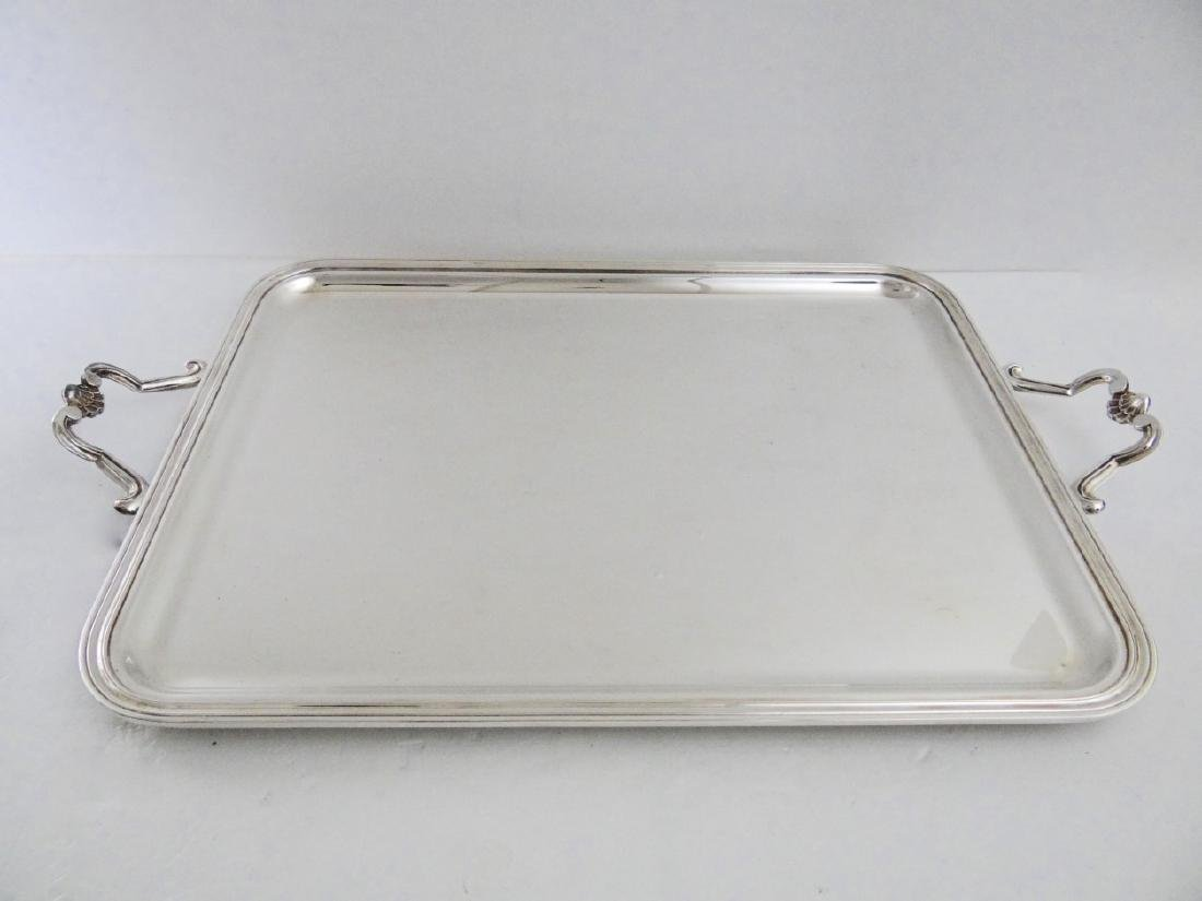 CHRISTOFLE, LARGE FRENCH SILVER PLATED TRAY
