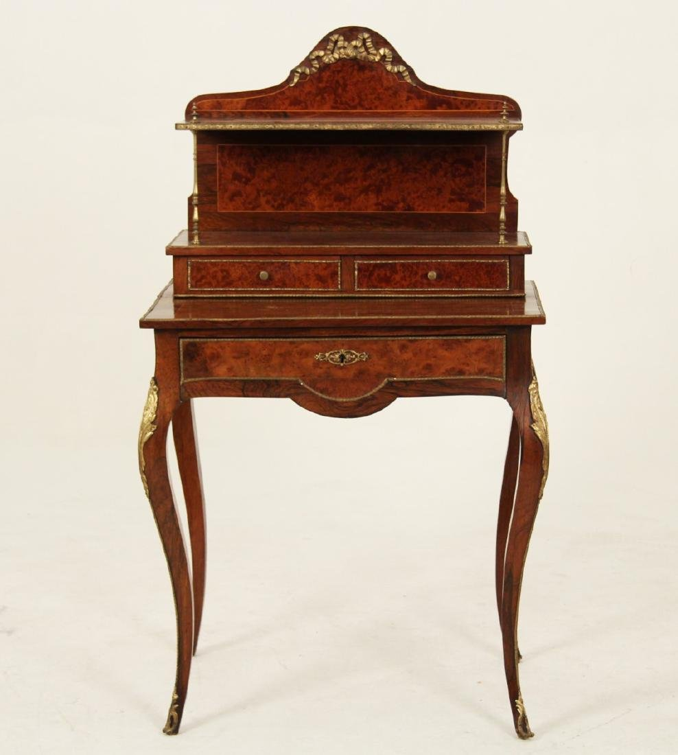 19TH C. FRENCH BURL WALNUT BUREAU DE DAME - 2