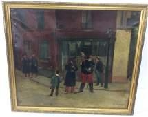 DUPERAY, 19TH C. O/C STREET SCENE PAINTING