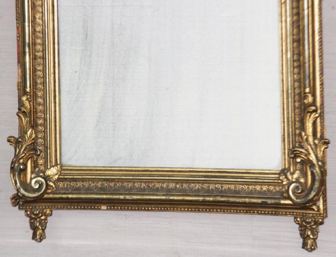LOUIS XVI STYLE CARVED GOLD GILTWOOD MIRROR - 3