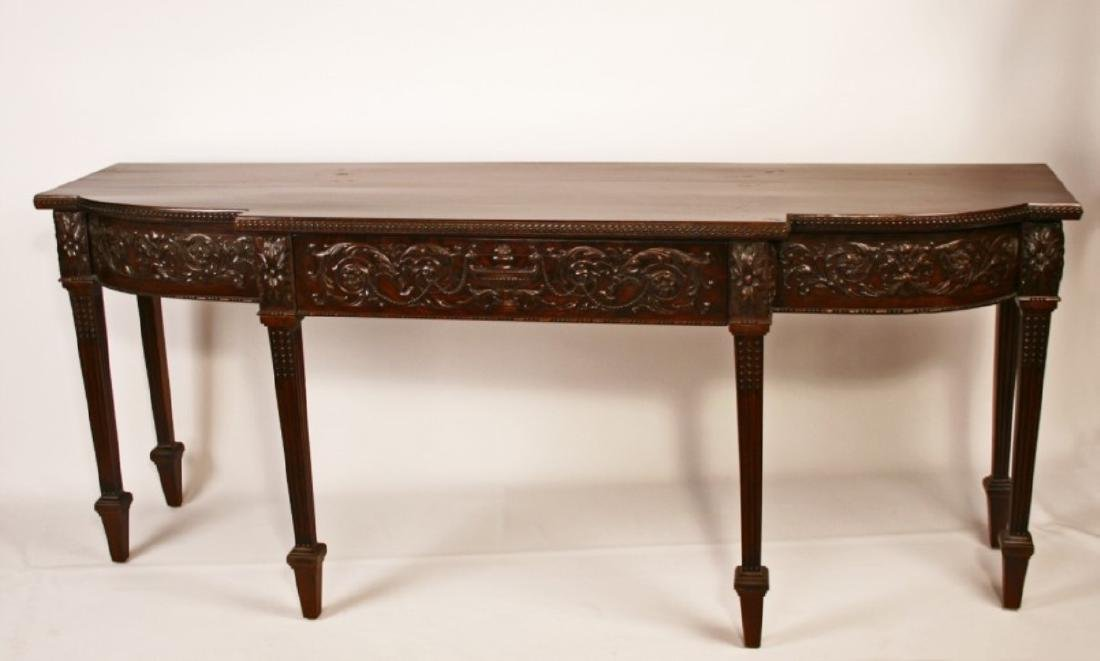19TH C. ADAMS CARVED MAHOGANY SERVING BOARD