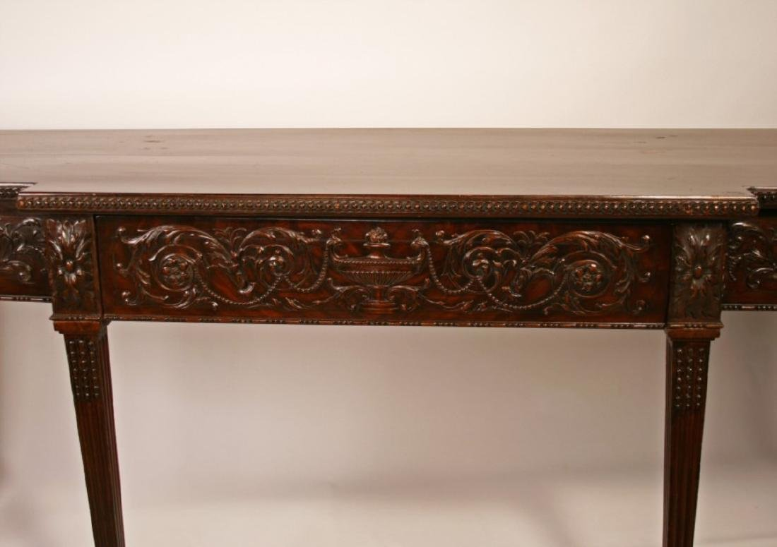 19TH C. ADAMS CARVED MAHOGANY SERVING BOARD - 2