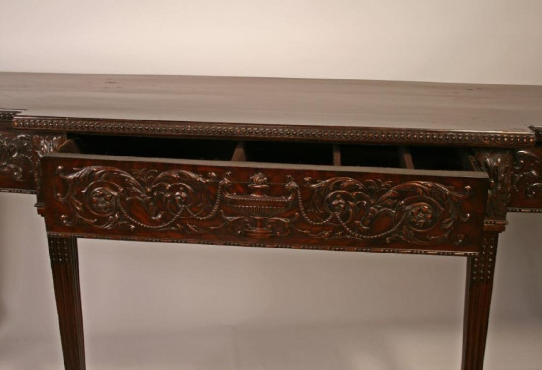 19TH C. ADAMS CARVED MAHOGANY SERVING BOARD - 3