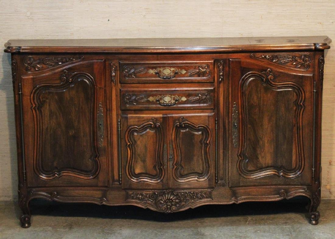 HANDSOME PROVINCIAL SERPENTINE FRONT BUFFET - 2