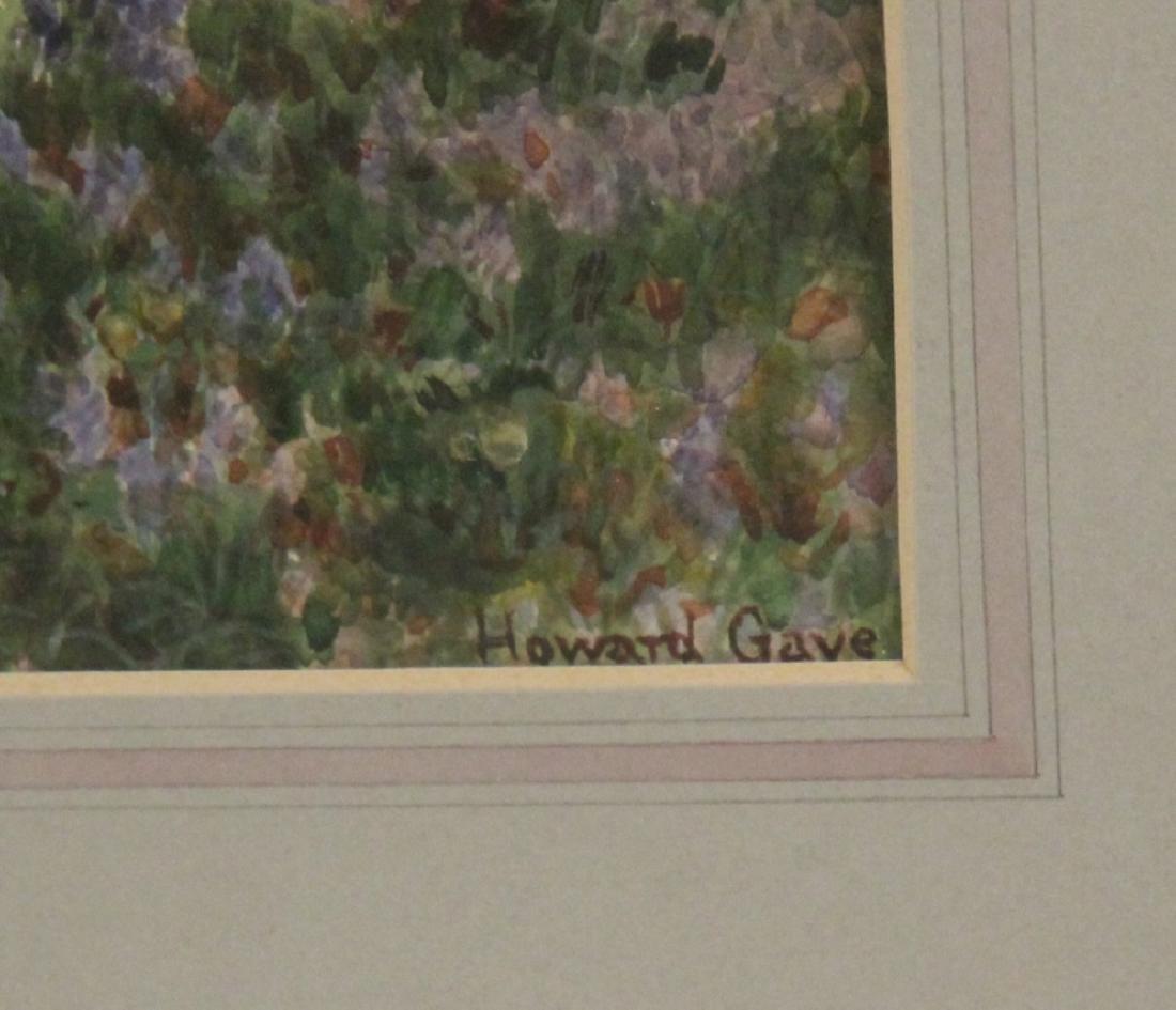 HOWARD GAYE, FRAMED WATERCOLOR - 3
