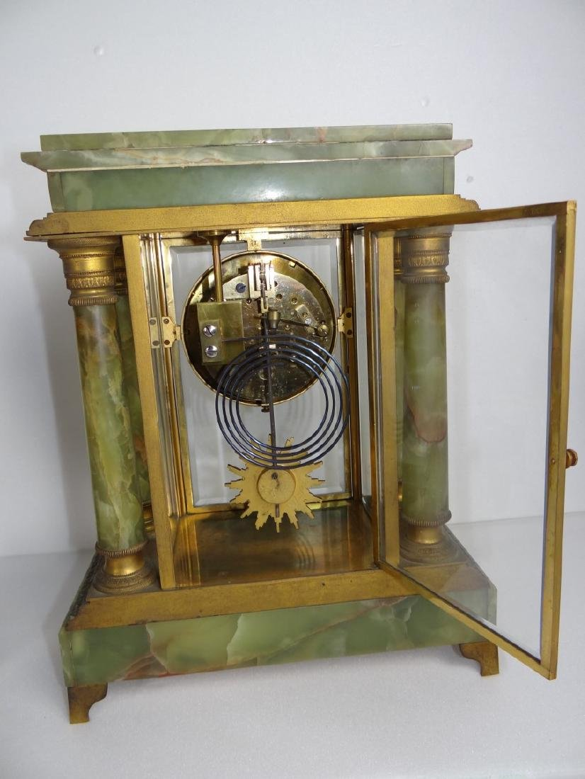 FRENCH 3 PC. MARBLE CLOCK SET - 3