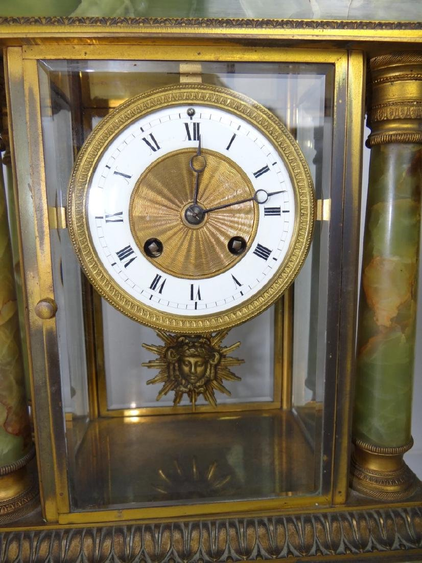 FRENCH 3 PC. MARBLE CLOCK SET - 5