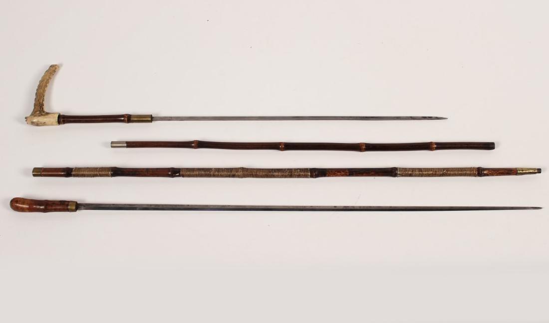2 MISCELLANEOUS BAMBOO CANE SWORDS