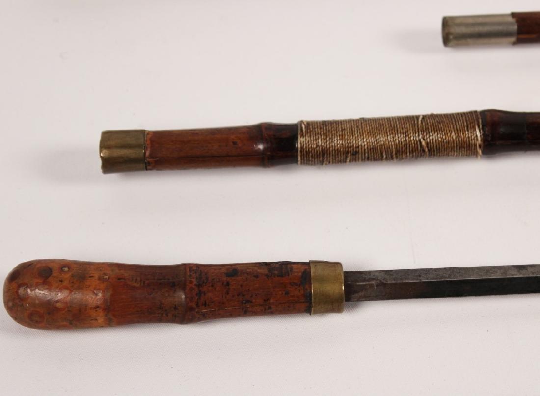 2 MISCELLANEOUS BAMBOO CANE SWORDS - 3