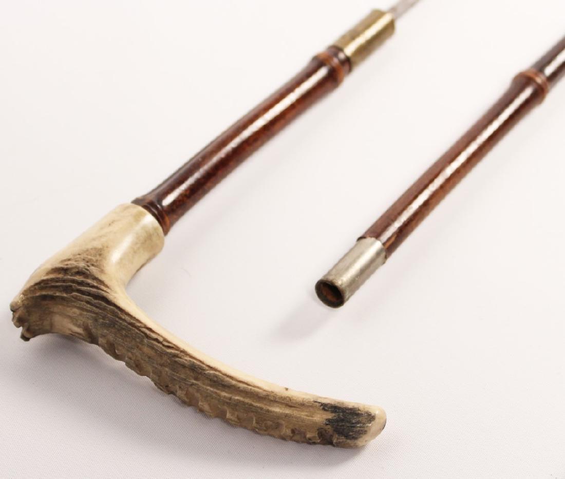 2 MISCELLANEOUS BAMBOO CANE SWORDS - 4