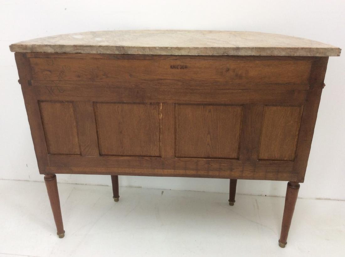 FRENCH TRANSITIONAL STYLE DEMI-LUNE CONSOLE - 8