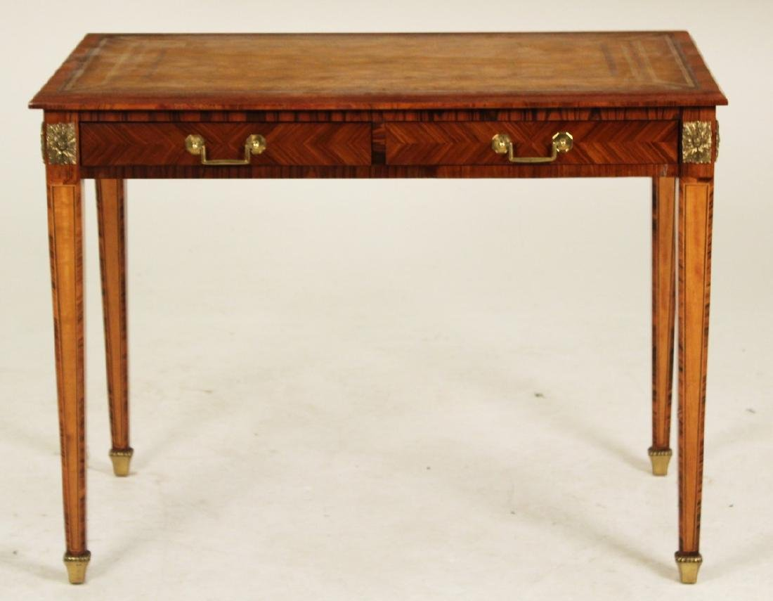 FRENCH 2 DRAWER WRITING TABLE - 2