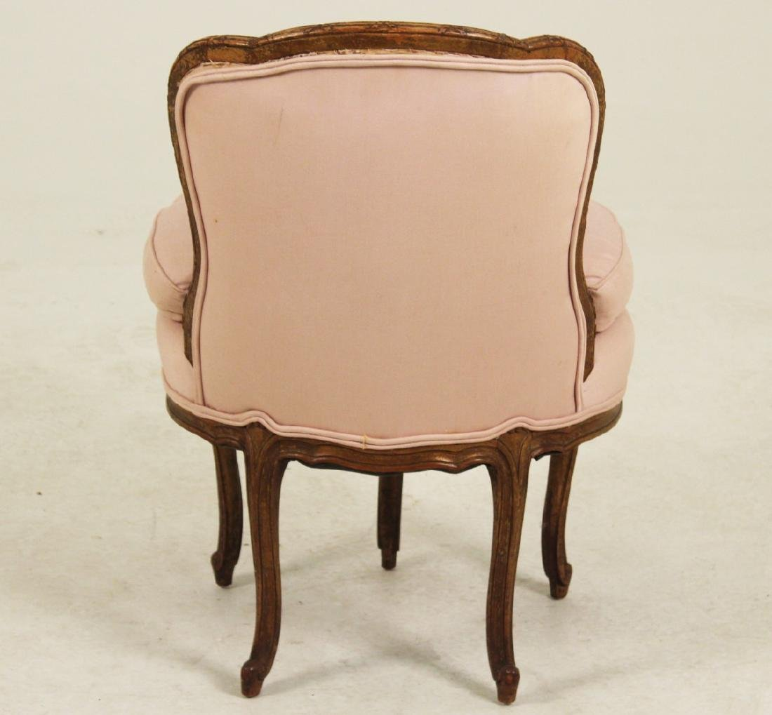 LOUIS XVI STYLE CARVED WALNUT CHAIR - 3