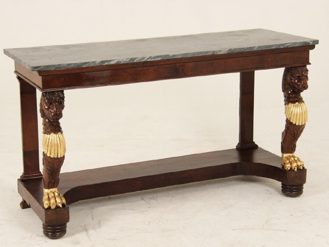 FRENCH REGENCY MAHOGANY CONSOLE TABLE