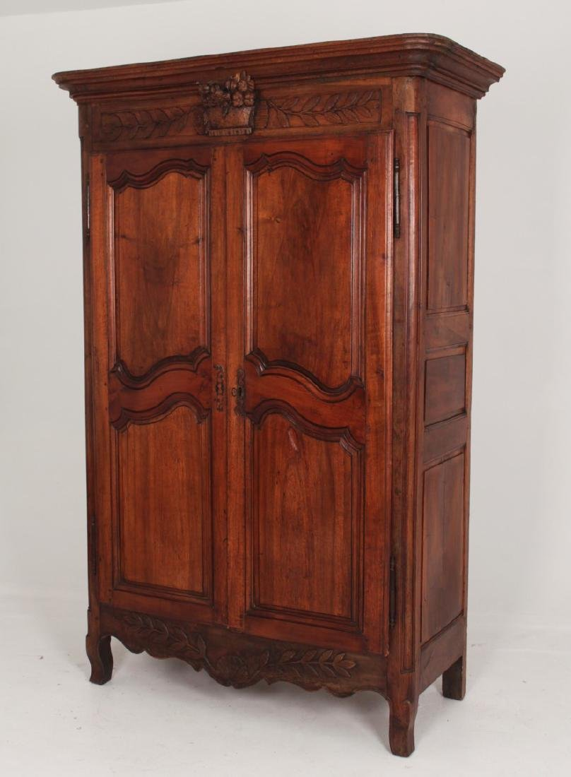 19TH C. FRENCH CARVED WALNUT ARMOIRE