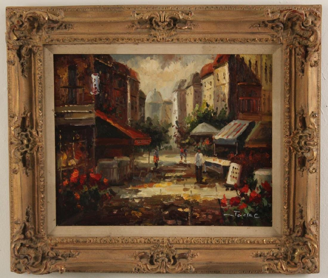 PR. OF 20TH C. O/C FRENCH STREET SCENE PAINTINGS - 2