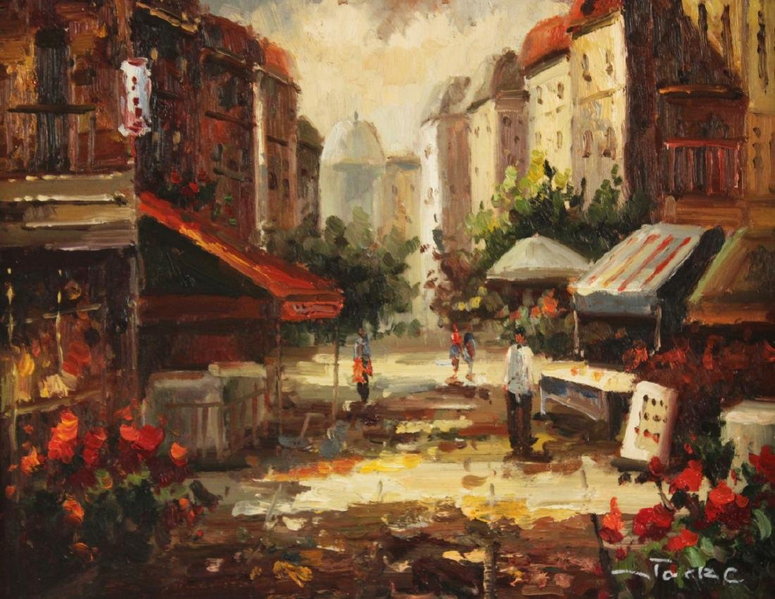 PR. OF 20TH C. O/C FRENCH STREET SCENE PAINTINGS - 3