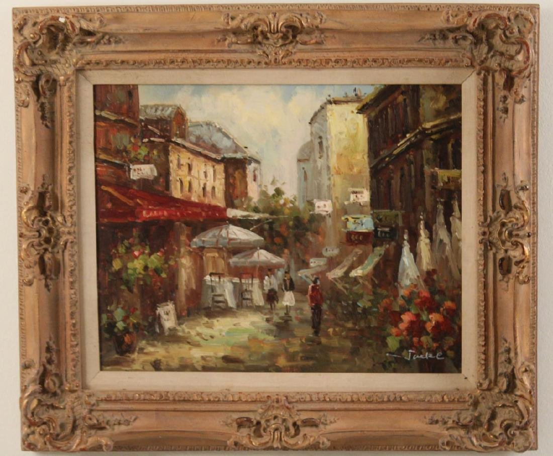 PR. OF 20TH C. O/C FRENCH STREET SCENE PAINTINGS - 4