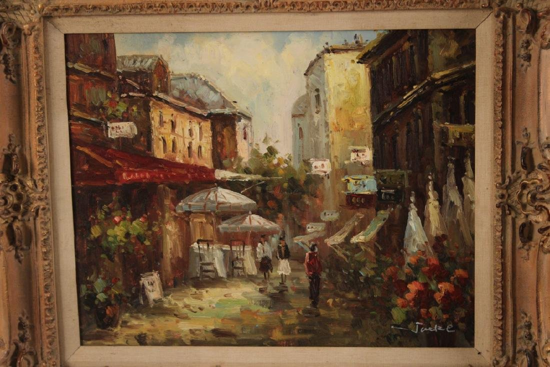 PR. OF 20TH C. O/C FRENCH STREET SCENE PAINTINGS - 5