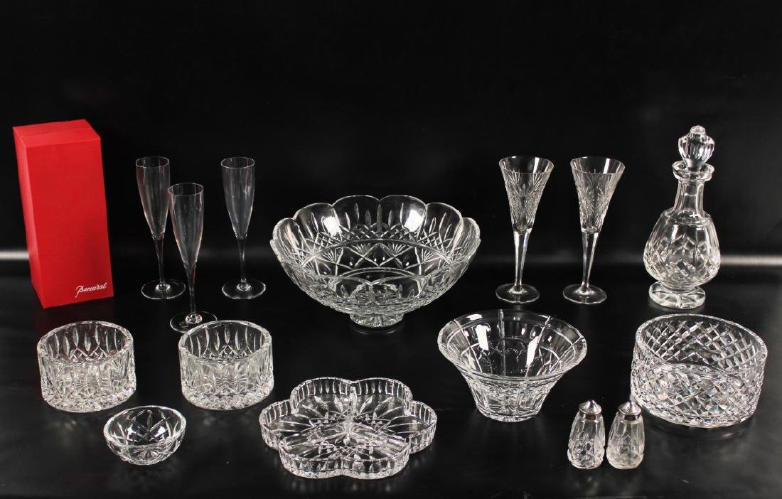 15 PC. LOT OF SIGNED WATERFORD CRYSTAL