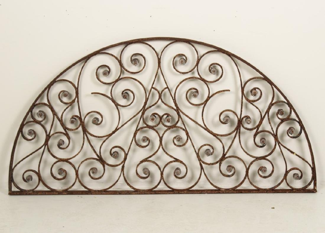 WROUGHT IRON DOME TOP TRANSOM