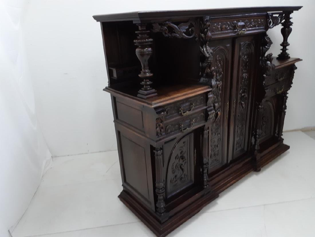 FRENCH CARVED WALNUT RENAISSANCE STYLE CABINET - 2
