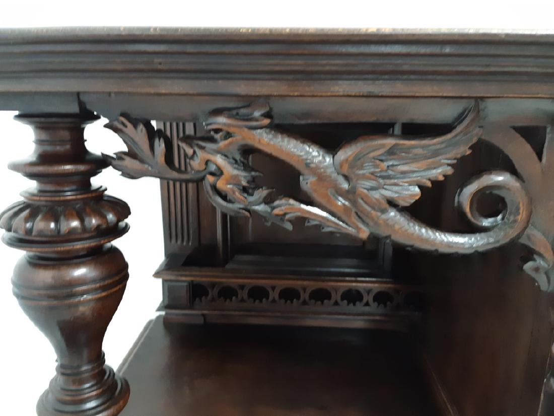 FRENCH CARVED WALNUT RENAISSANCE STYLE CABINET - 4