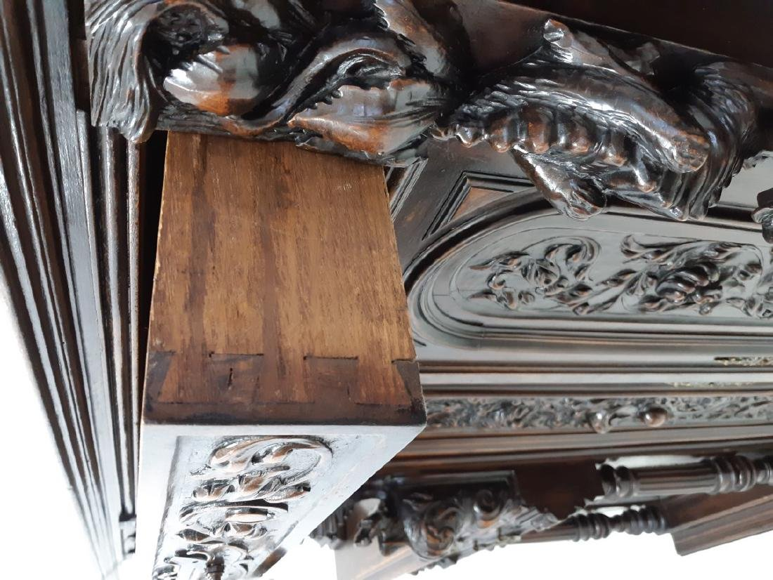 FRENCH CARVED WALNUT RENAISSANCE STYLE CABINET - 5