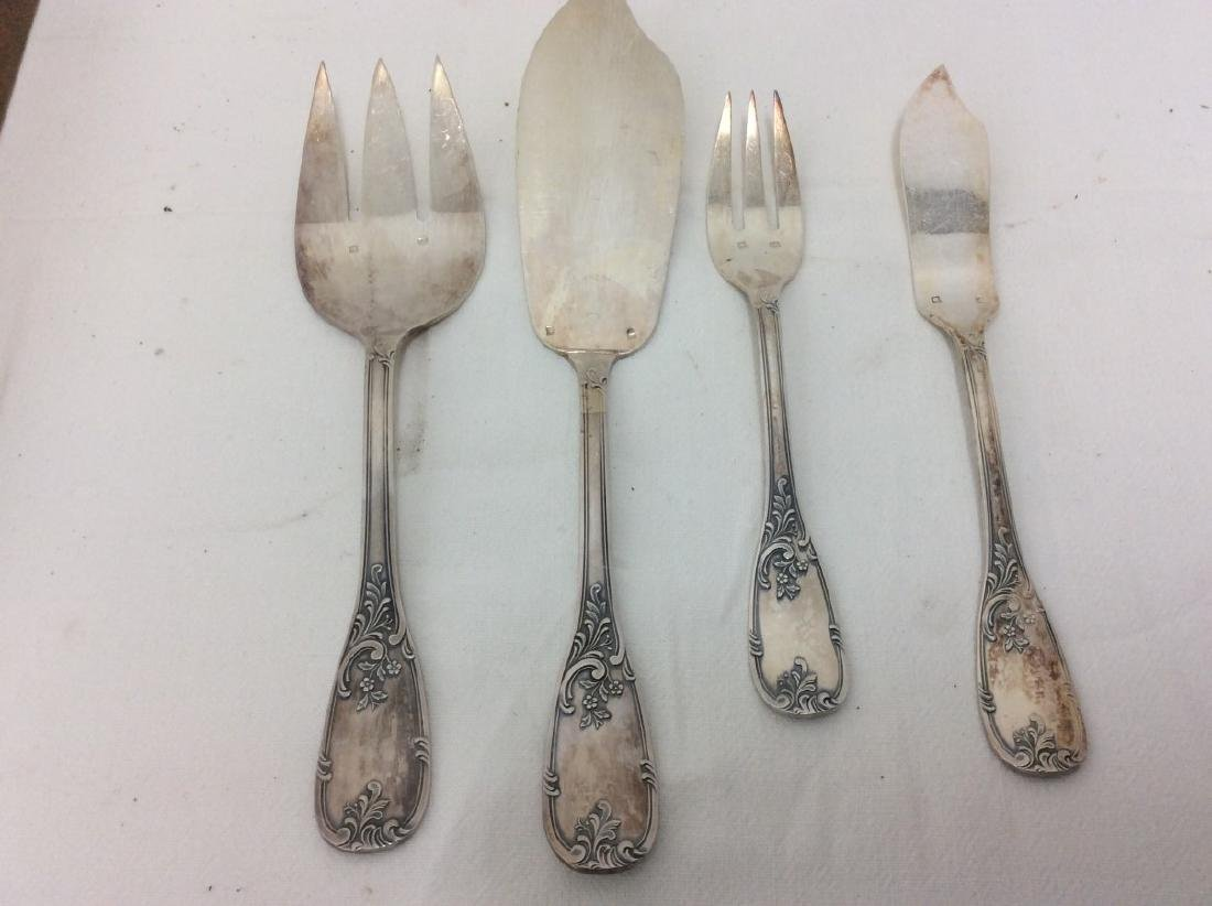 26 PC. FRENCH SILVER PLATED FISH SET - 2