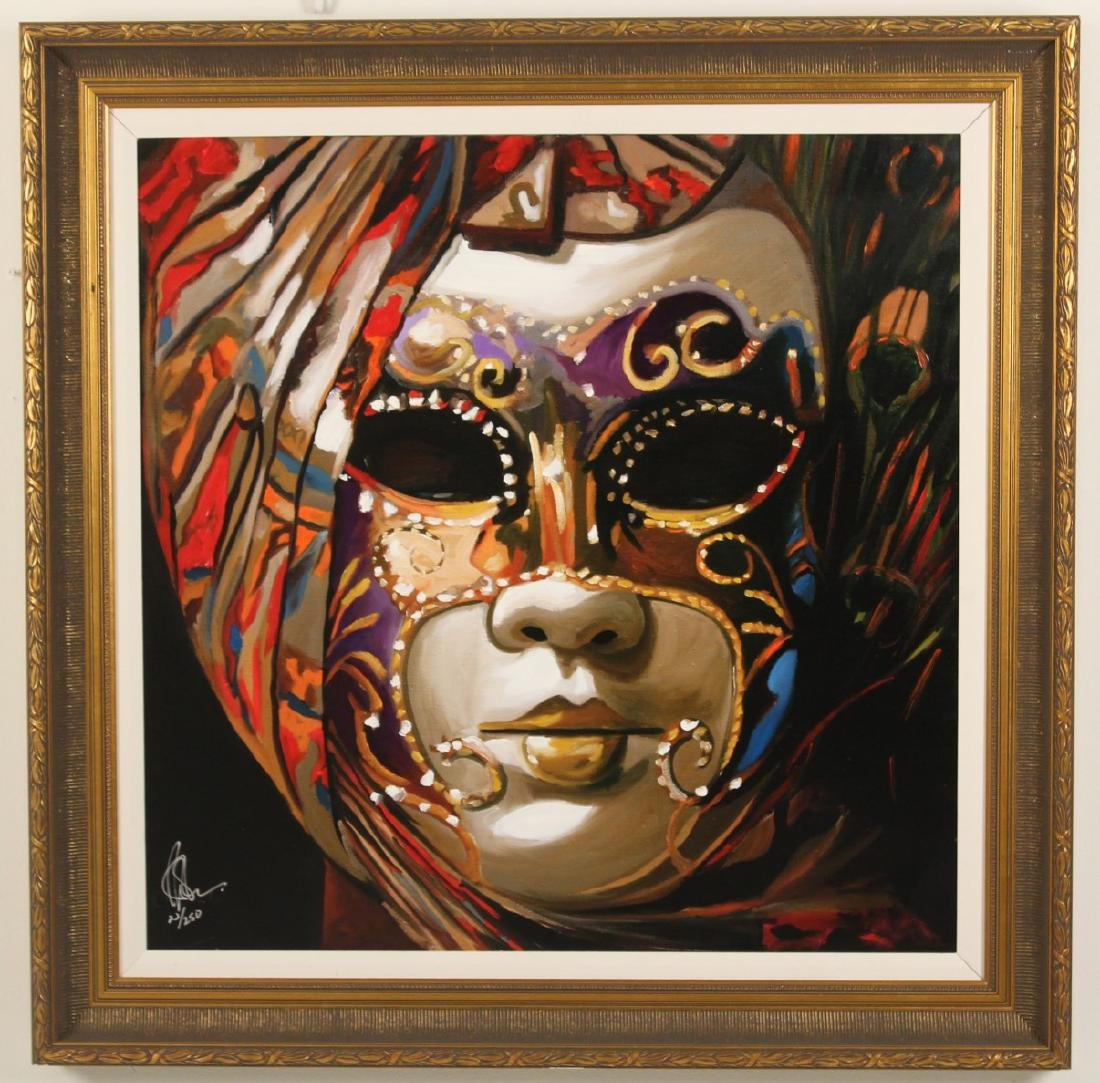 PAIR OF MIXED MEDIA GICLEE PRINTS, SIGNED AND NUMBERED - 2